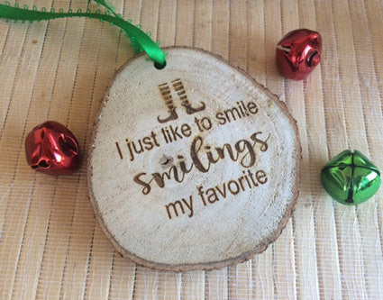 elf quote christmas ornament - Favor Universe
