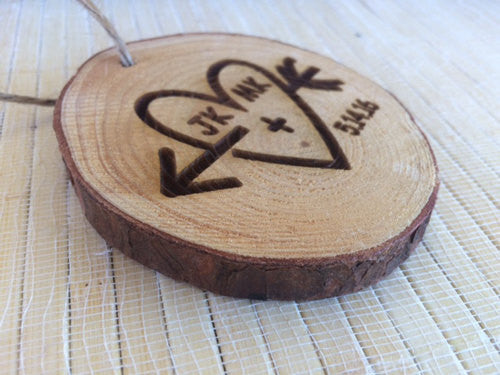 Wedding Ornament engraved heart - Favor Universe