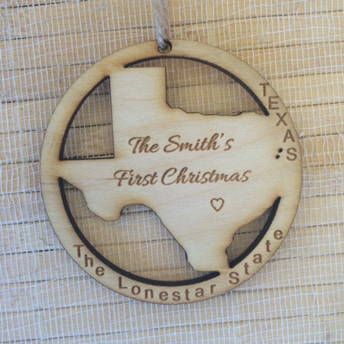 Personalized Texas State Ornament - Favor Universe