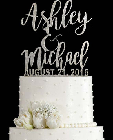 Wedding Cake Topper (First Names)