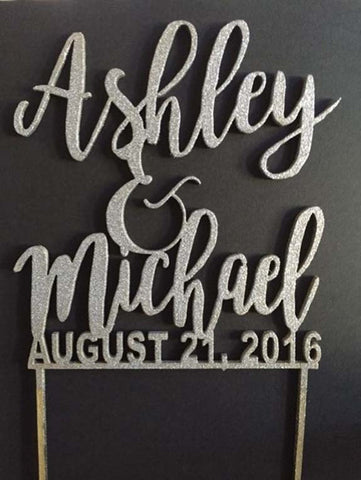 Wedding Cake Topper (First Names) - Favor Universe