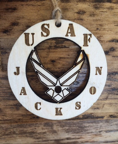 Air Force Ornament with cutout logo - Favor Universe