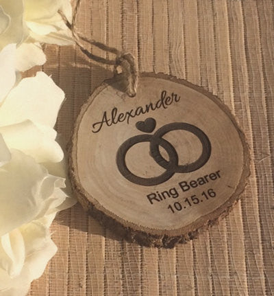 Personalized ring bearer ornament - Favor Universe