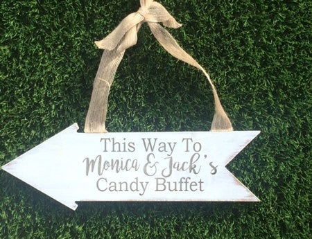 Wedding reception Arrow sign - Favor Universe