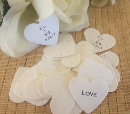 Plantable seed paper favors Pink - Favor Universe