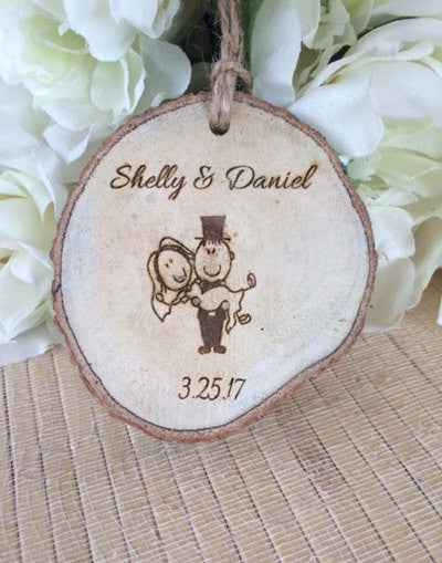 Personalized bride and groom Ornament - Favor Universe
