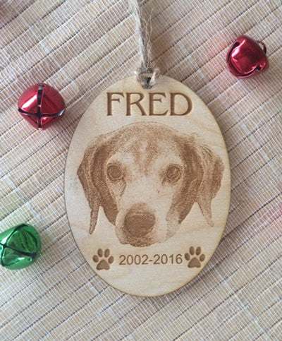 dog portrait ornament - Favor Universe