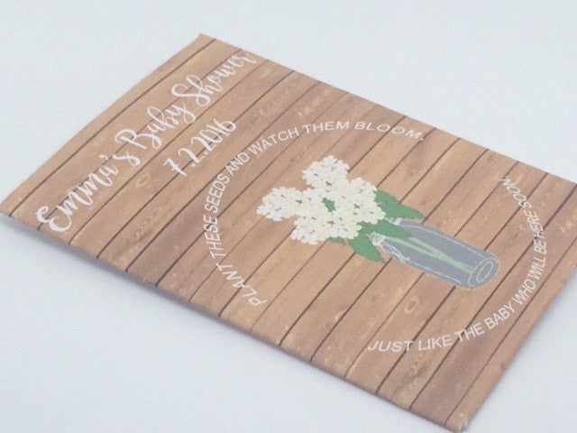 Hydrangea Baby Shower Seed Packets - Favor Universe
