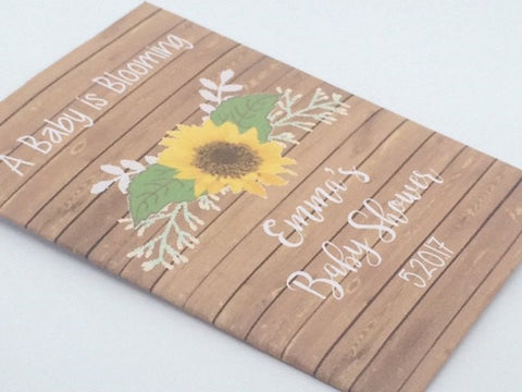 Floral Baby Shower Seed Packets - Favor Universe