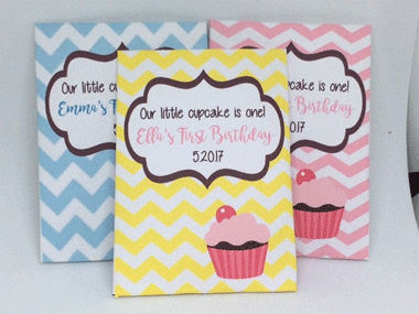 Cupcake Seed Packets Birthday Favors - Favor Universe