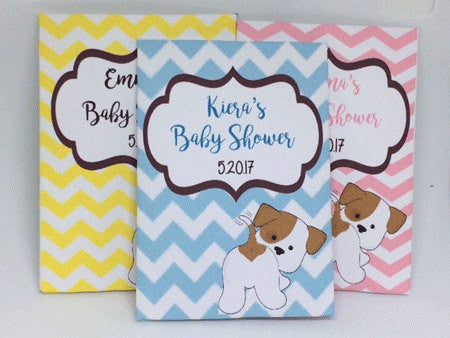 Puppy Baby Shower Seed Packets - Favor Universe