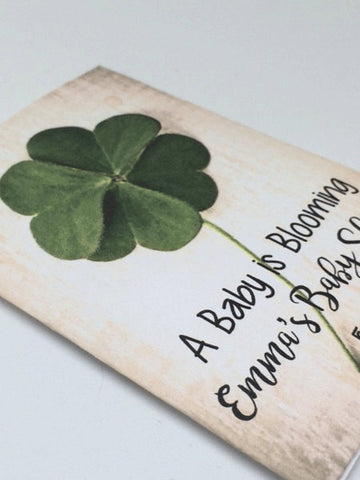 Shamrock Baby Shower Seed Packets - Favor Universe