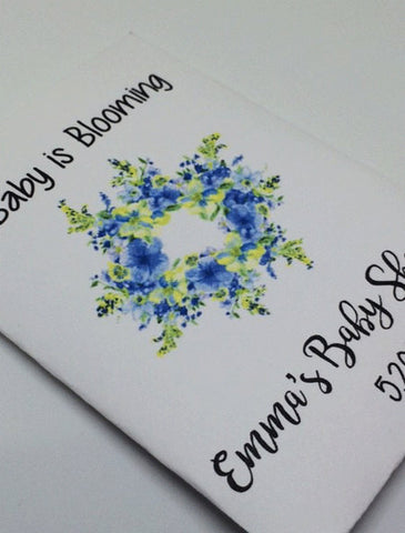 Blue Baby Shower Seed Packets - Favor Universe