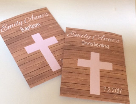 Pink Cross Baptism Seed Packets - Favor Universe