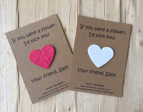 Valentines day plantable seed paper with card