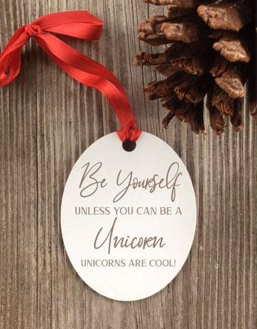 Unicorn Ornament, Unicorn Gifts, Unicorn Birthday, Unicorn Party, little girl gift, Christmas Gift for Kids, Christmas gifts for daughter - Favor Universe
