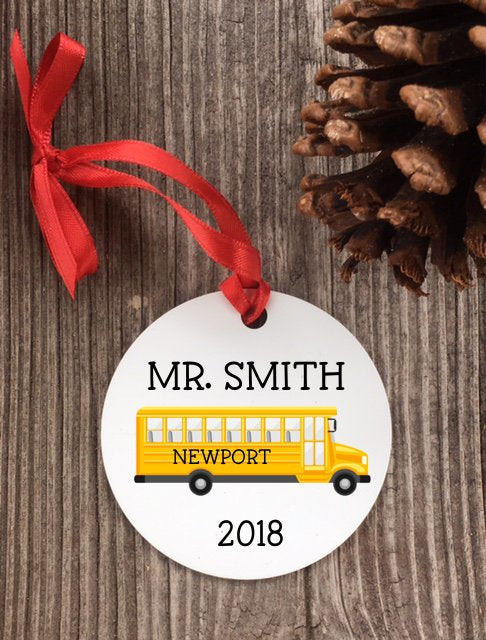 bus driver gift - bus driver ornament - School bus ornament - Favor Universe