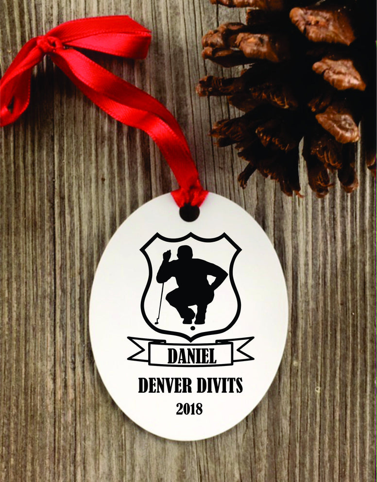golf Ornament, custom golf ornament, golfer christmas ornament, personalized golf coach gift, golf team gift - Favor Universe