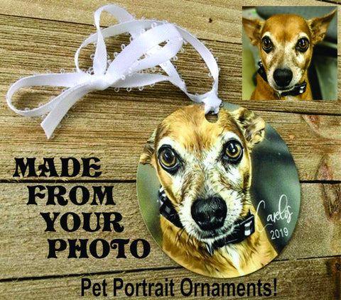 Pet portrait ornament, pet memorial, pet lovers, pet gifts, pet loss gifts, dog ornament, cat ornament - Favor Universe