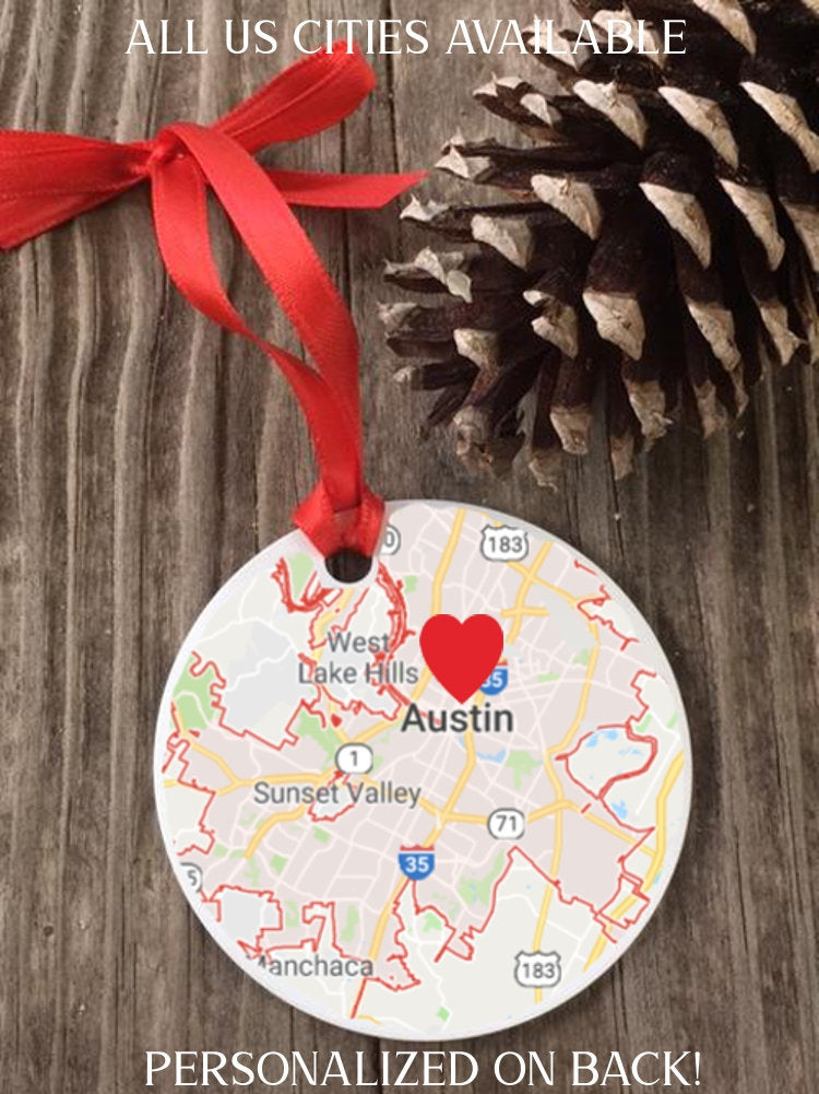 First Home Ornament, New Home Ornament, First Home Gift, First Christmas Ornament, First Home Gifts, Our First Christmas Ornament, map gift - Favor Universe