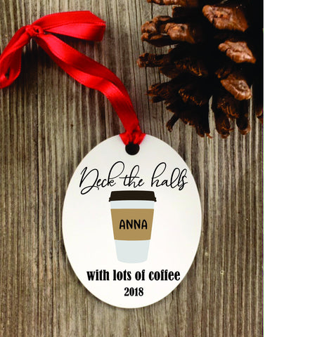 Coffee Ornament - coffee Gift - coffee lover gift - Favor Universe