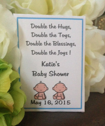 Twin Baby Shower Seed Packets - Favor Universe