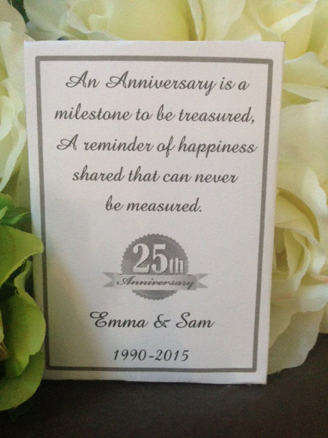 Wedding Anniversary Seed Packets Favor Universe