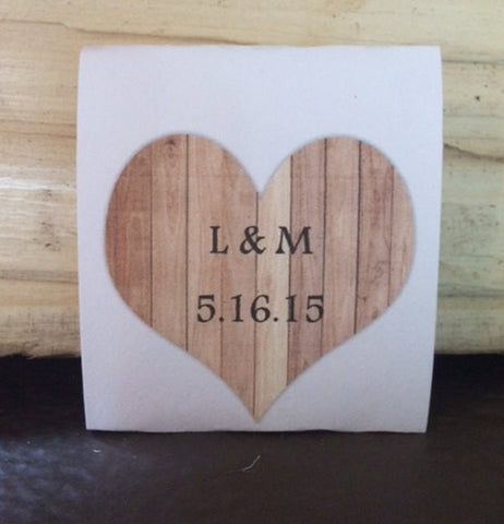 Wooden Heart Tea Packet Favors - Favor Universe