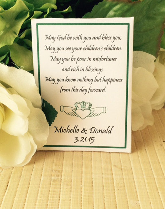 Celtic Claddagh Irish Wedding Seed Packets - Favor Universe