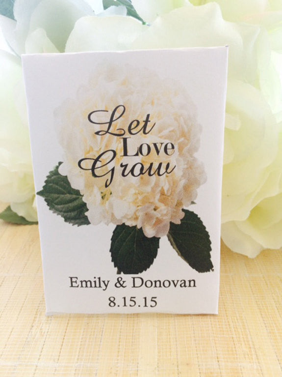 Hydrangea Wedding Seed Packets - Favor Universe