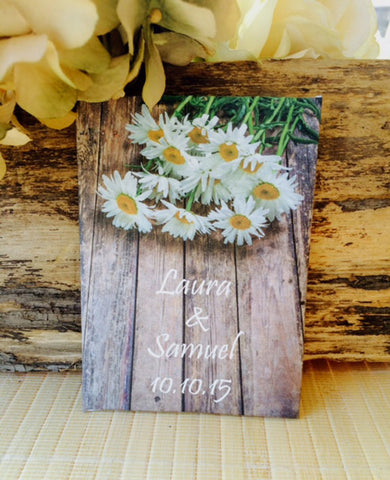 Custom Rustic Daisy Personalized Wedding Seed Packets - Favor Universe