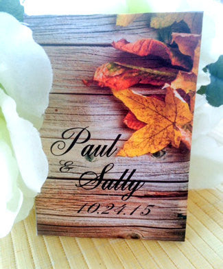 Rustic Fall Leaves Autumn Wedding Seed Packets - Favor Universe
