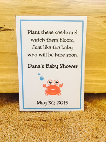 Sea baby Shower Seed Packets - Favor Universe