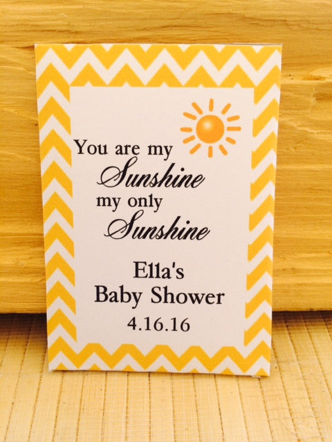 You Are My Sunshine Baby Shower Seed Packets - Favor Universe