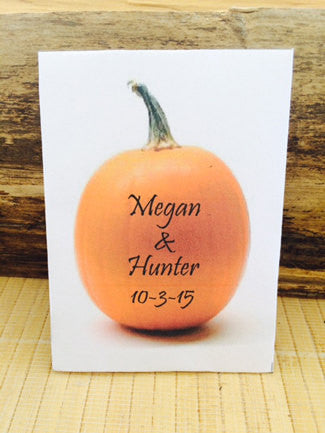 Pumpkin Wedding Seed Packets - Favor Universe