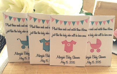 Onesie Baby Shower Seed Packets - Favor Universe