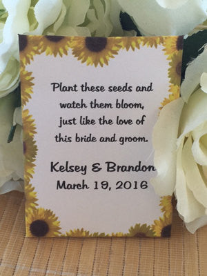 Sunflower Border Seed Packets Favor Universe
