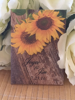Rustic Sunflower Seed Packets - Favor Universe