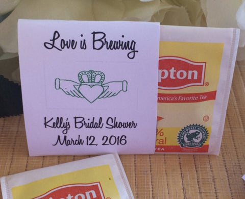 Claddagh Wedding Tea Packets - Favor Universe
