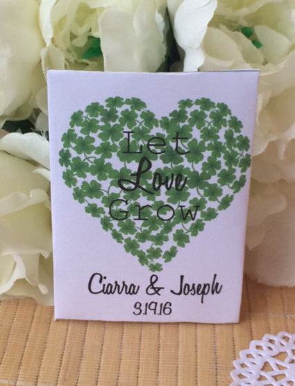 Shamrock Heart Seed Packets - Favor Universe