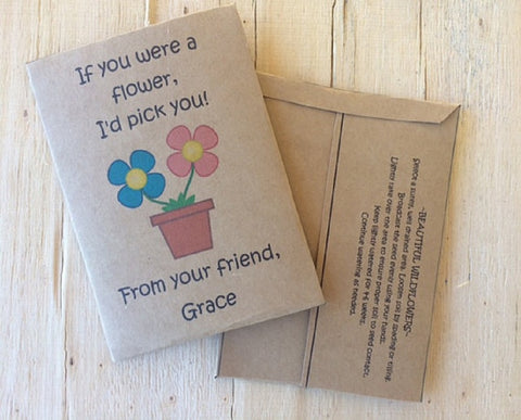 Valentines Day seed packets - Favor Universe