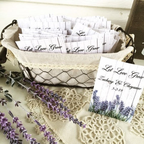 Lavender Wedding Seed Packets - Favor Universe