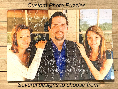 Custom photo puzzle for mom or dad