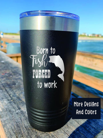 Personalized fishing tumbler