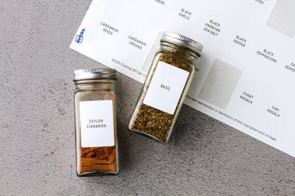 free printable spice jar labels with Avery
