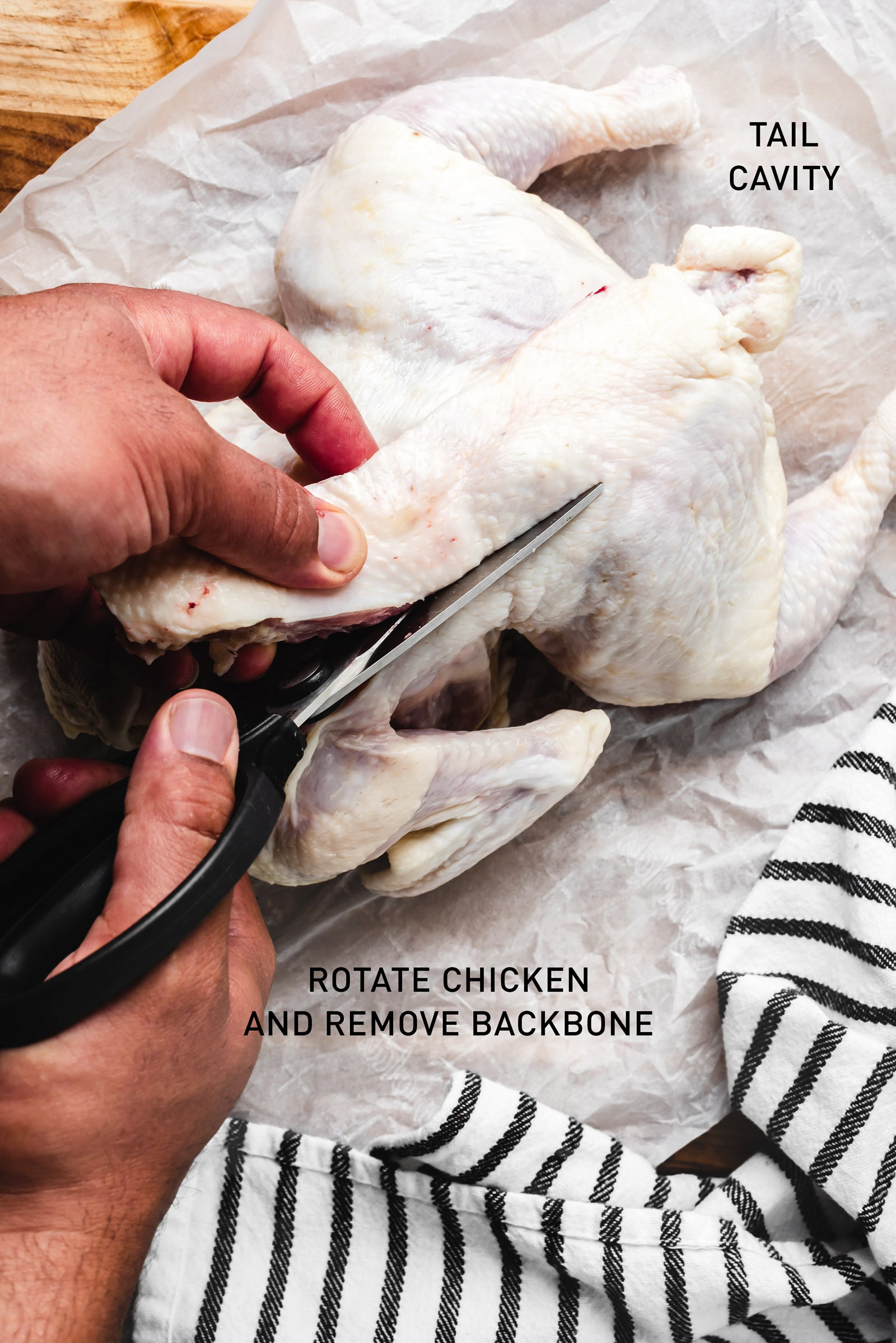 how to remove backbone from chicken for smoked spatchcock chicken recipe