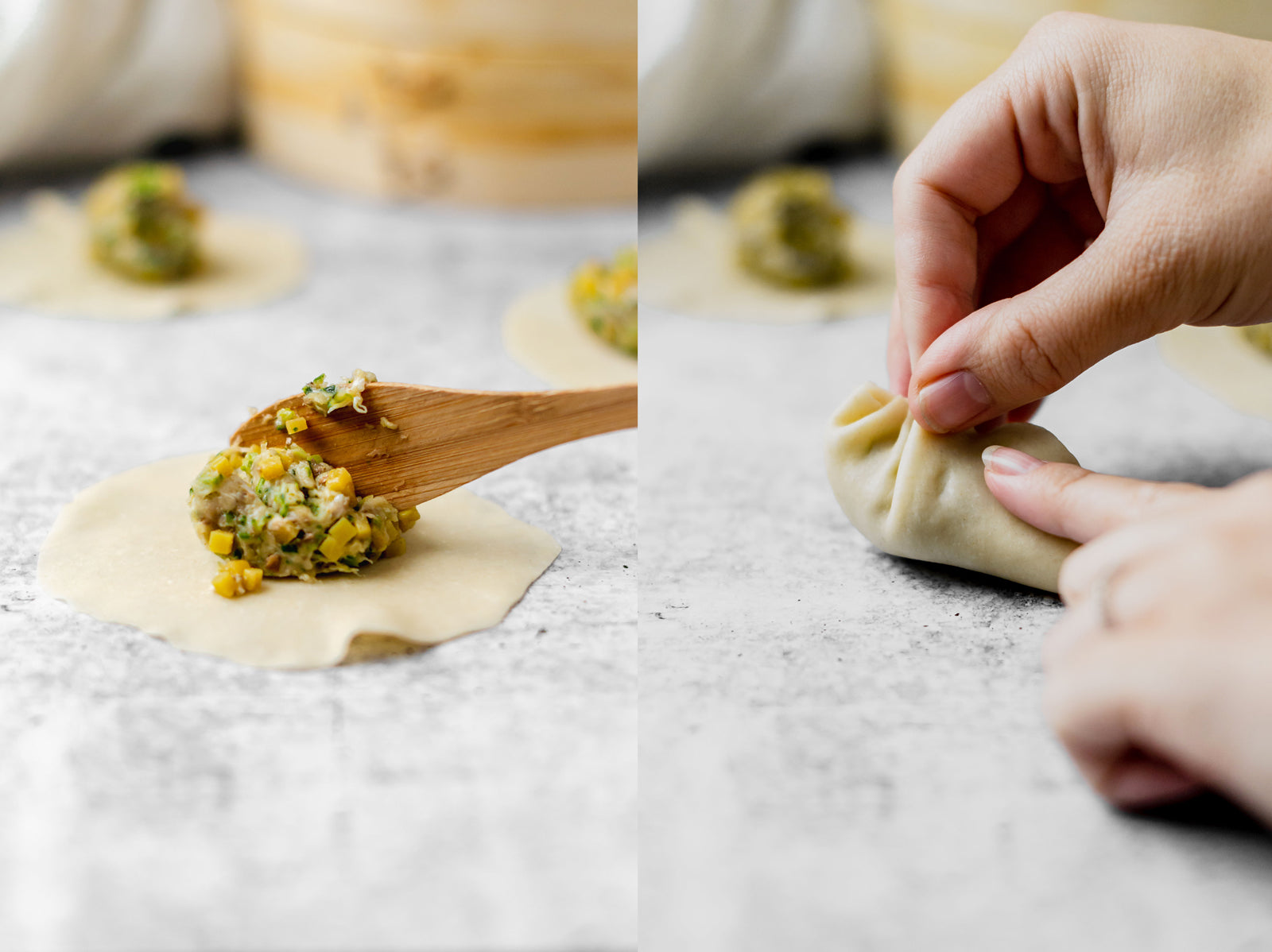 How to pleat and assemble a Chinese soup dumpling