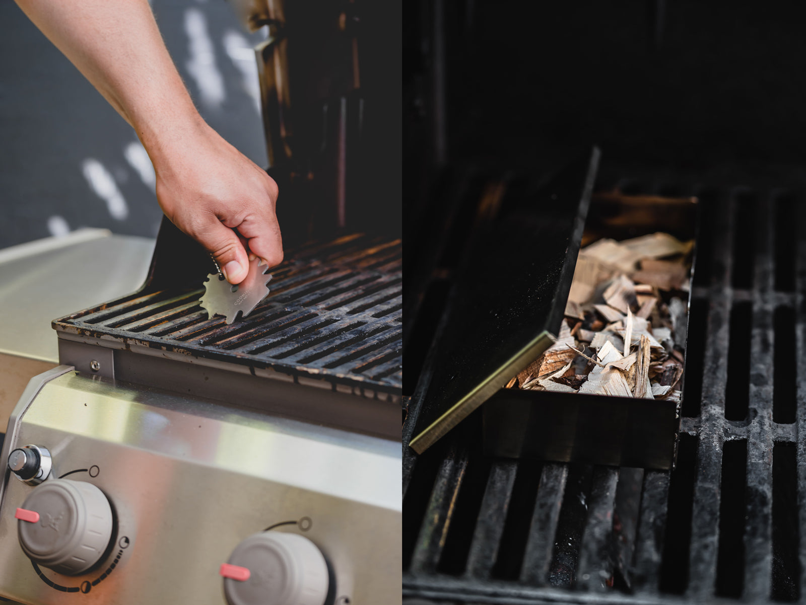 Prepping grill for smoked short ribs