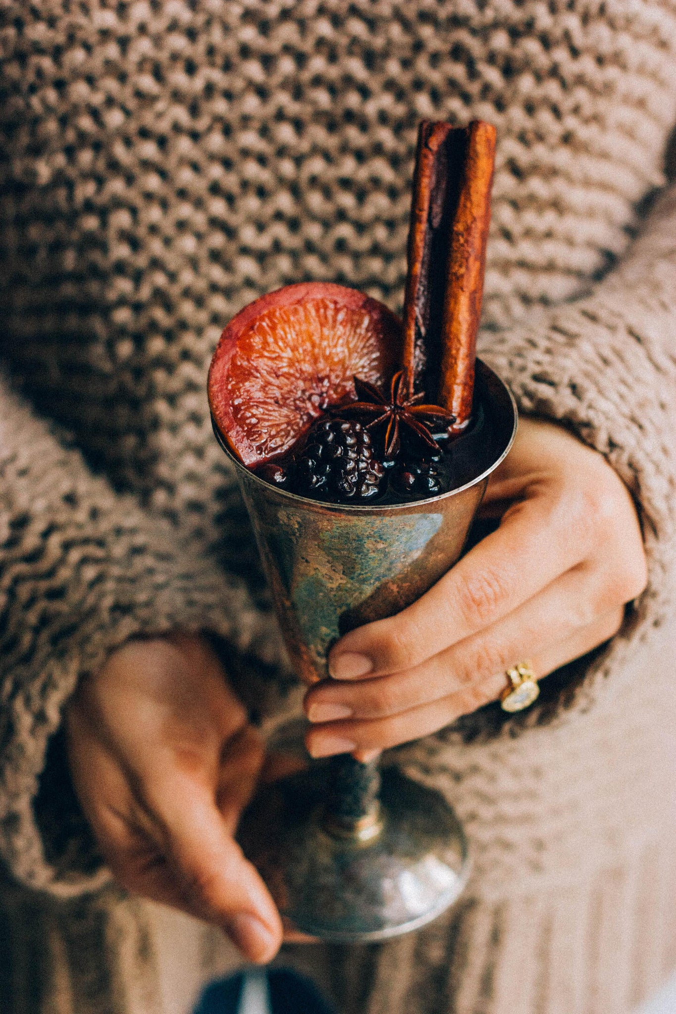 blackberry gluhwein mulled wine