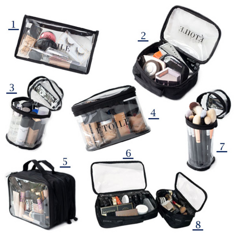 Etoile Collective Clear Makeup Travel Pouches